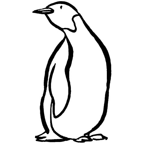 dessin codé pingouin