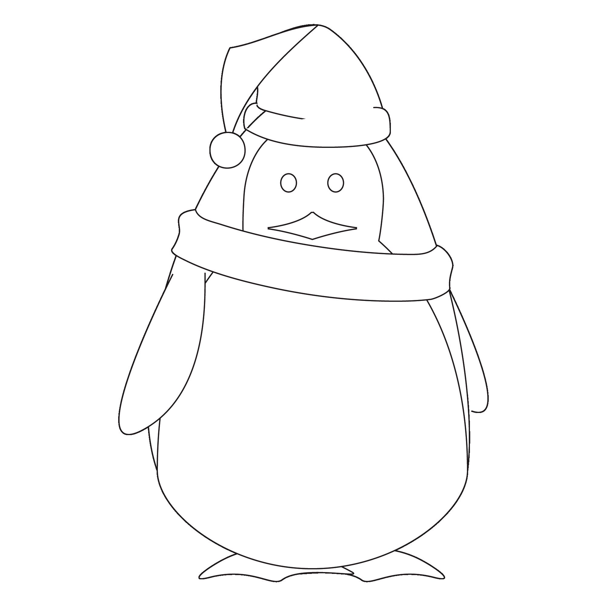 dessin pingouin a imprimer gratuit