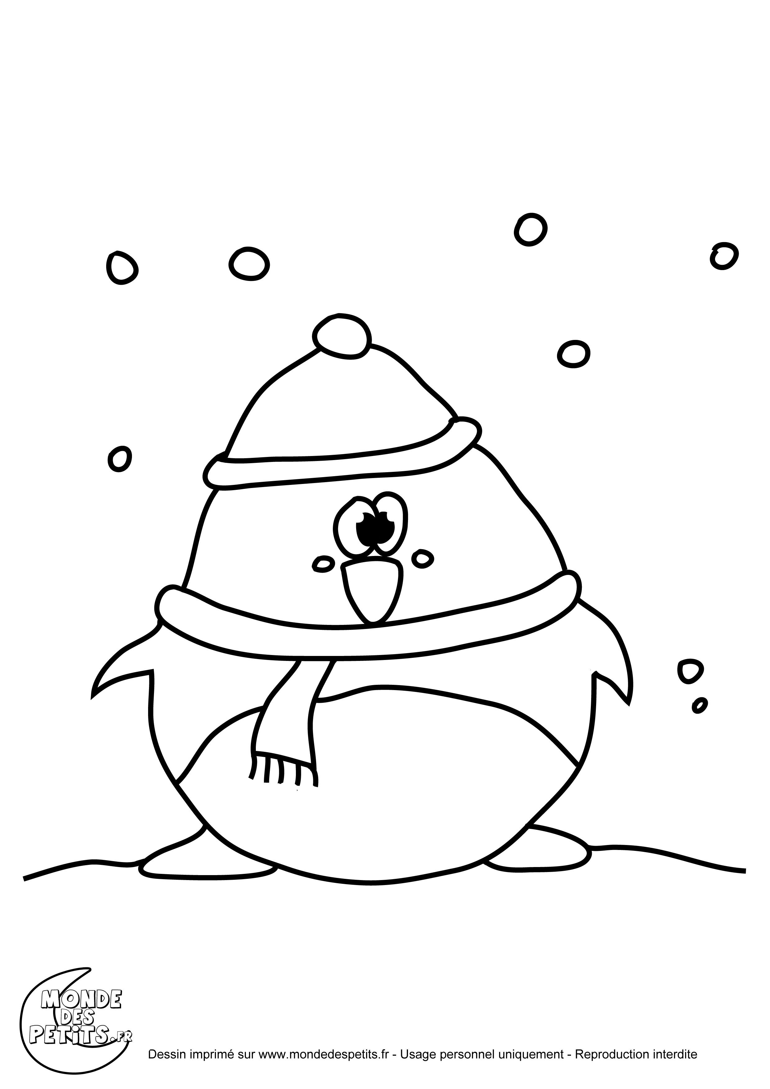 coloriage pingouin a imprimer gratuit