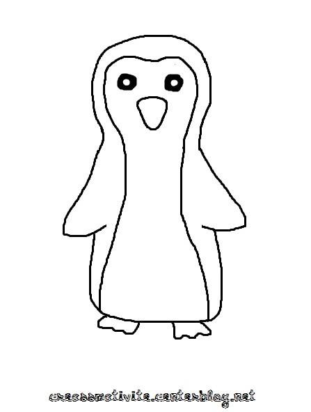 dessin magique pingouin