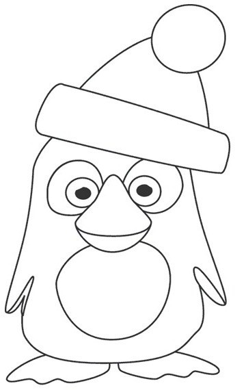 Dessin imprimer pingouin - Coloriage minable le pingouin ...