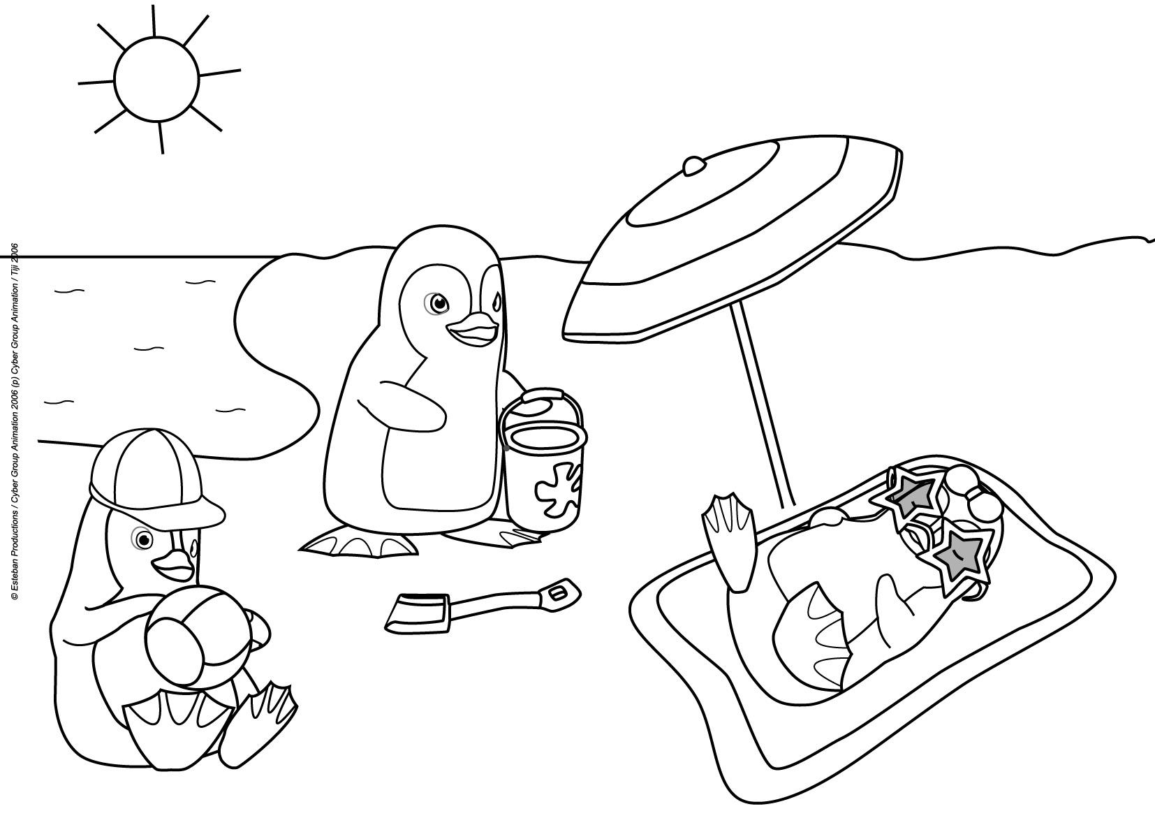 coloriage pingouin de madagascar