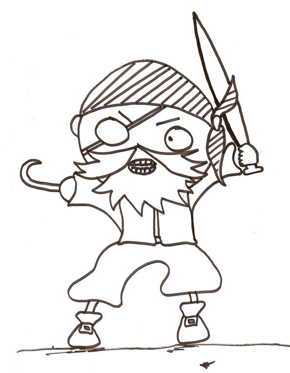dessin pirate hugo l'escargot