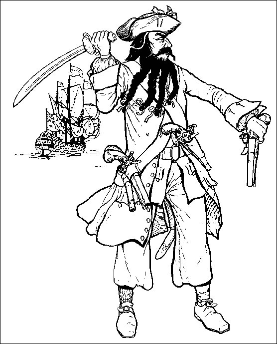 coloriage � dessiner pirate facile