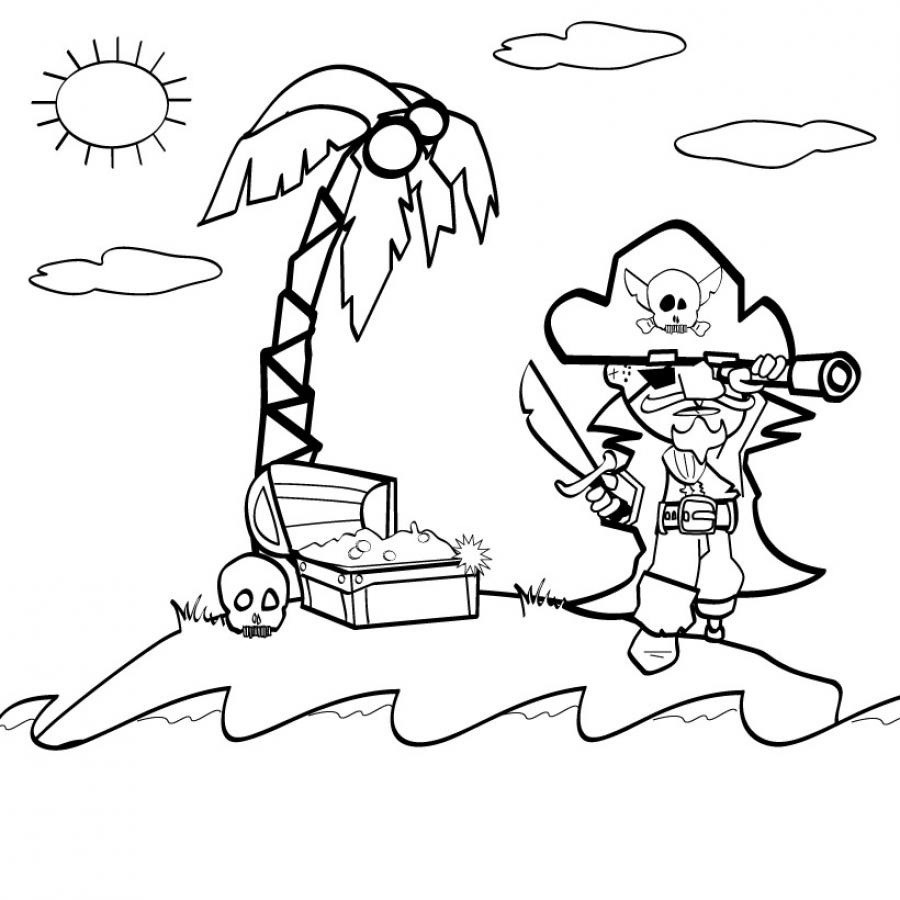 dessin à colorier magique pirate a imprimer