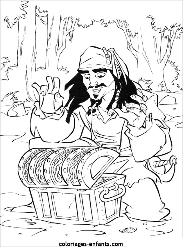 coloriage pirate 3 ans