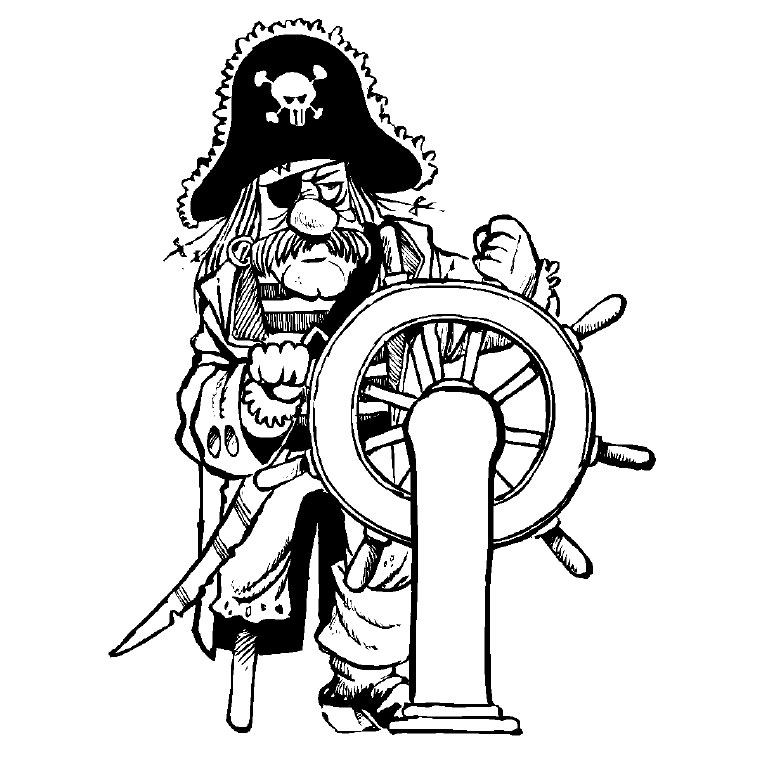 coloriage pirate imprimer