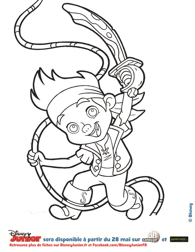 Coloriage dessiner pirate des caraibes gratuit - Coloriage jack le pirate ...