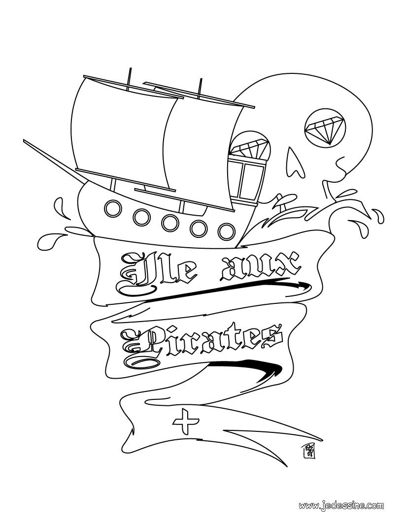 Coloriage dessiner pirate des caraibes 4 a imprimer - Dessin pirate des caraibes ...