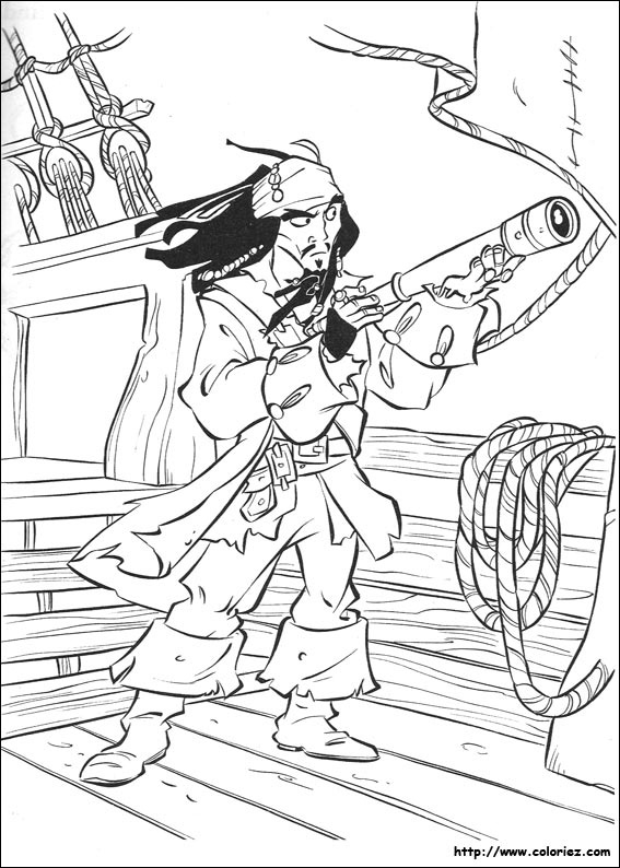 coloriage pirates des caraibes 2