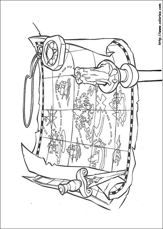 dessin à colorier gratuit à imprimer pirates des caraibes