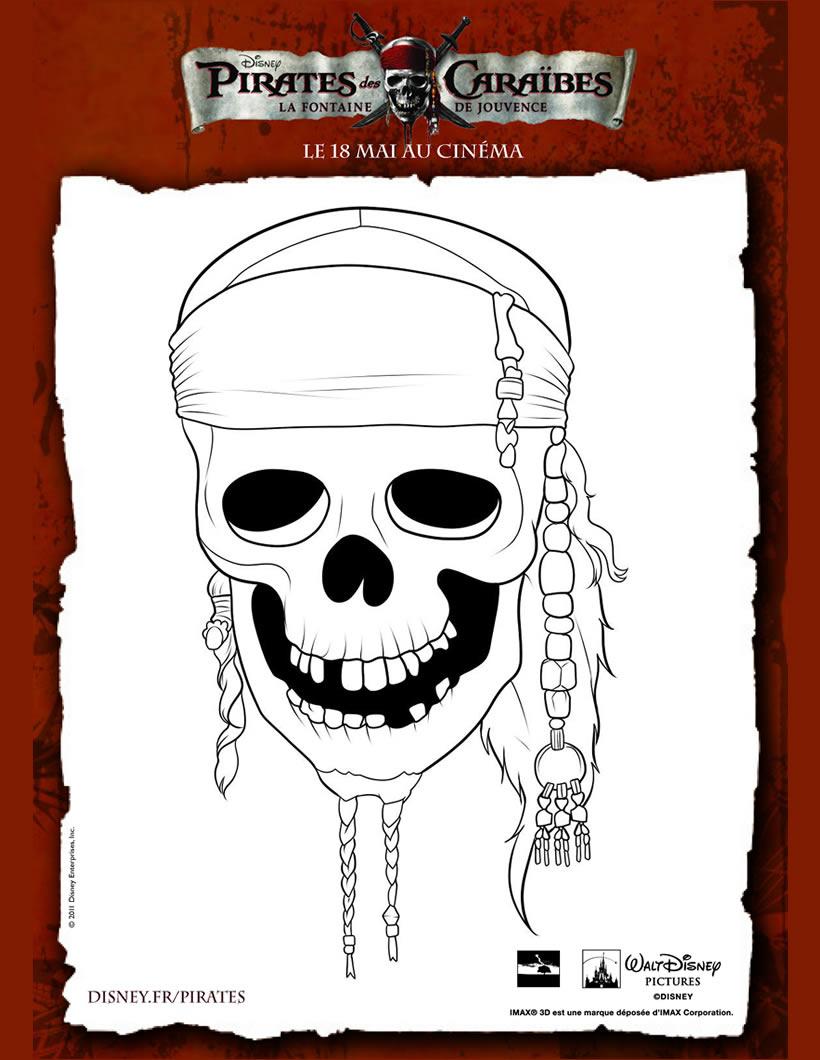 dessin à colorier de pirate des caraibe 4