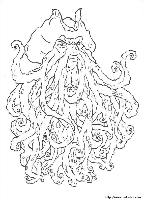 coloriage à dessiner pirate des caraibes 4 a imprimer