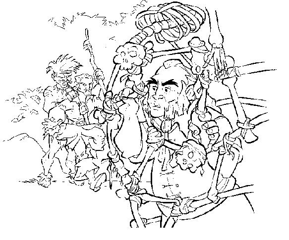 Dessin pirate des caraibes 3 - Coloriage pirate des caraibes ...