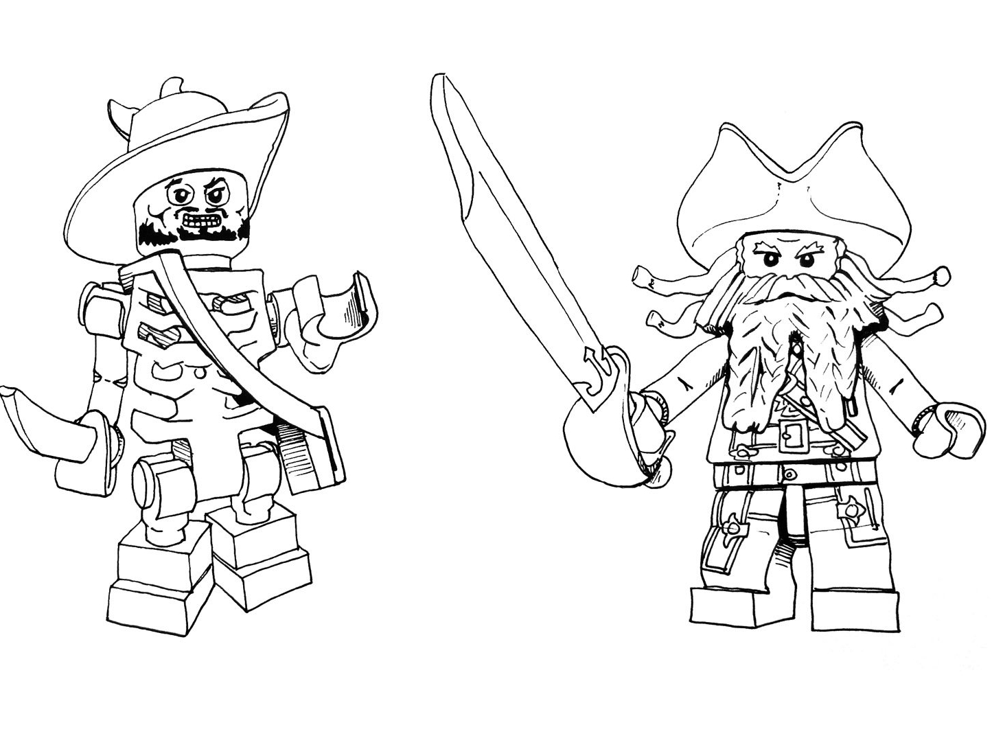 coloriage pirates des caraibes à imprimer gratuit