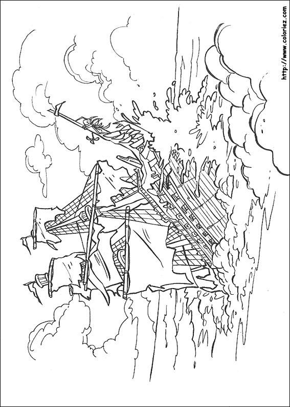 coloriage à dessiner pirate des caraibes gratuit