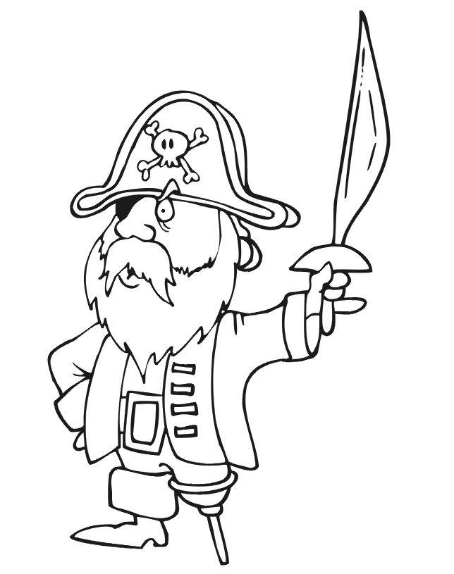 coloriage pirate des caraibes le film