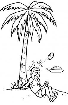 97 dessins de coloriage plage palmier imprimer - Palmier dessin ...