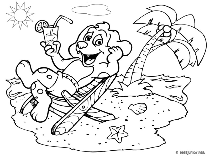 96 dessins de coloriage plage vacances imprimer - Dessin de vacances ...