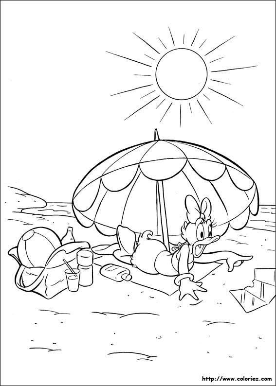 Coloriage plage mer - Coloriage de plage ...