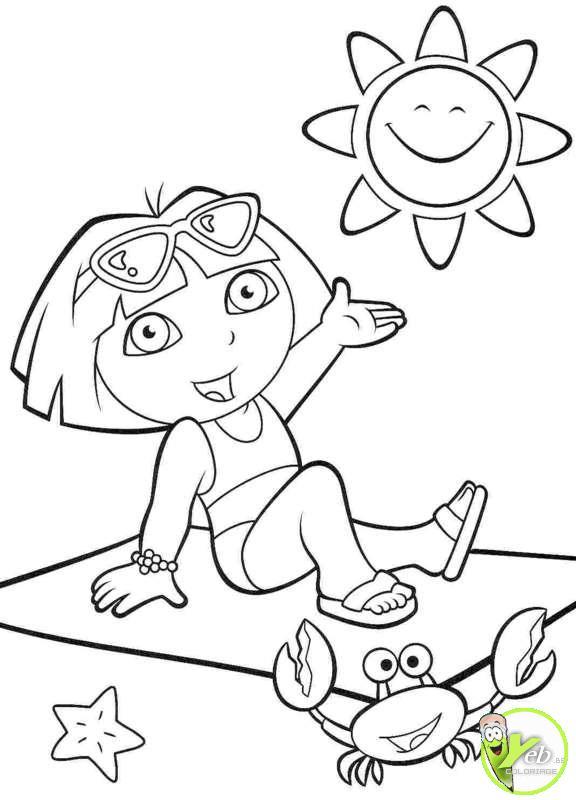 coloriage à dessiner magique plage