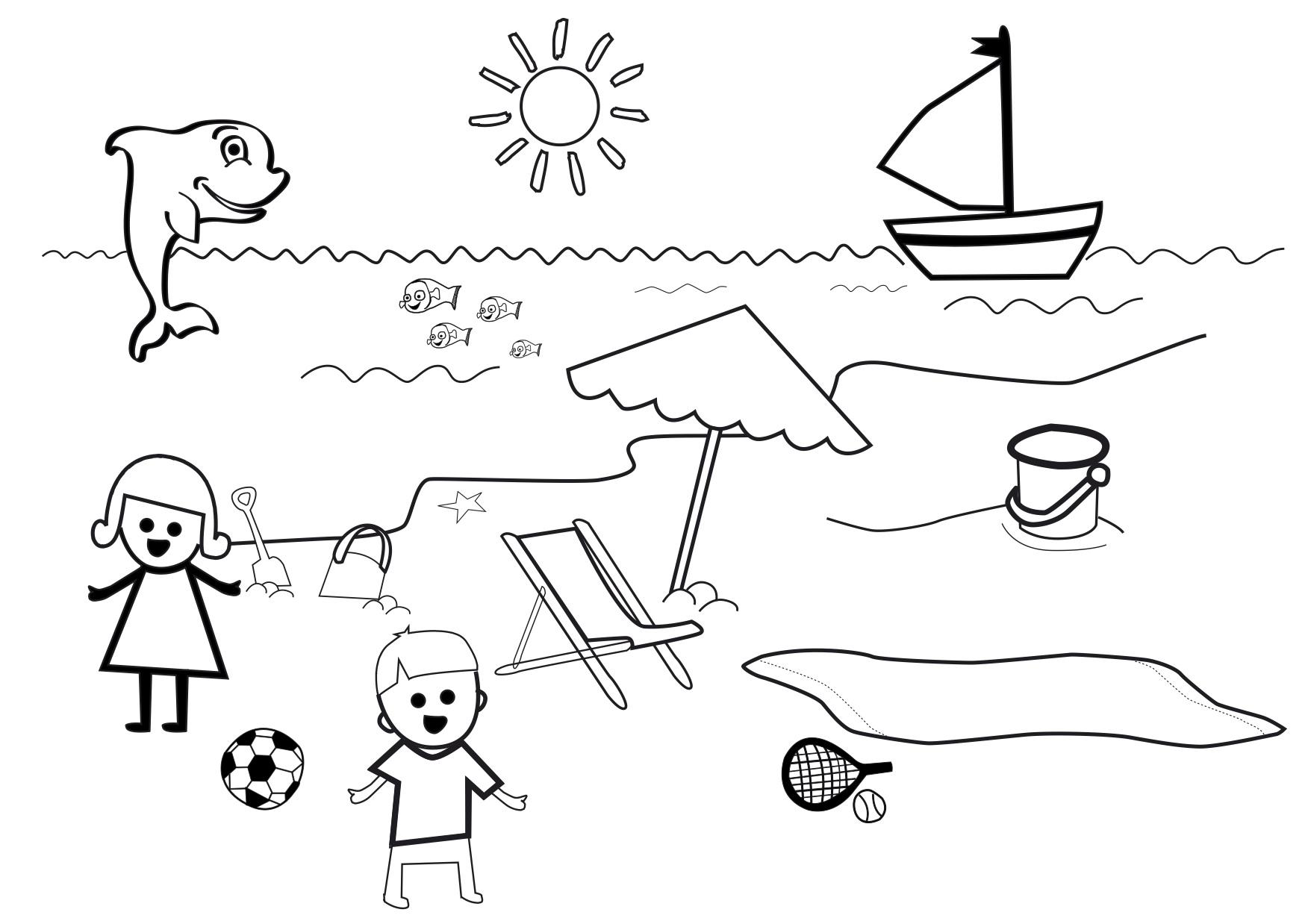 dessin mandala plage