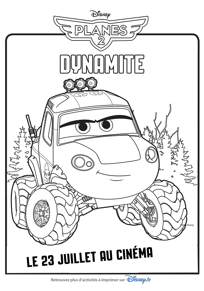 Perfect Coloriage Planes 2 Cabbie Model - Coloring Pages Online ...