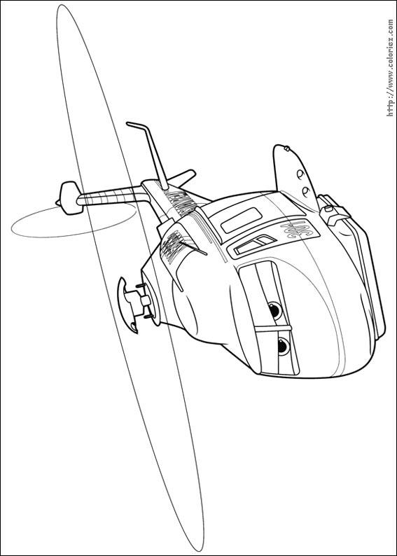 dessin à colorier planes 2 gratuit à imprimer