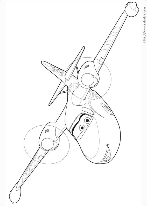 coloriage à dessiner planes 2 gratuit à imprimer