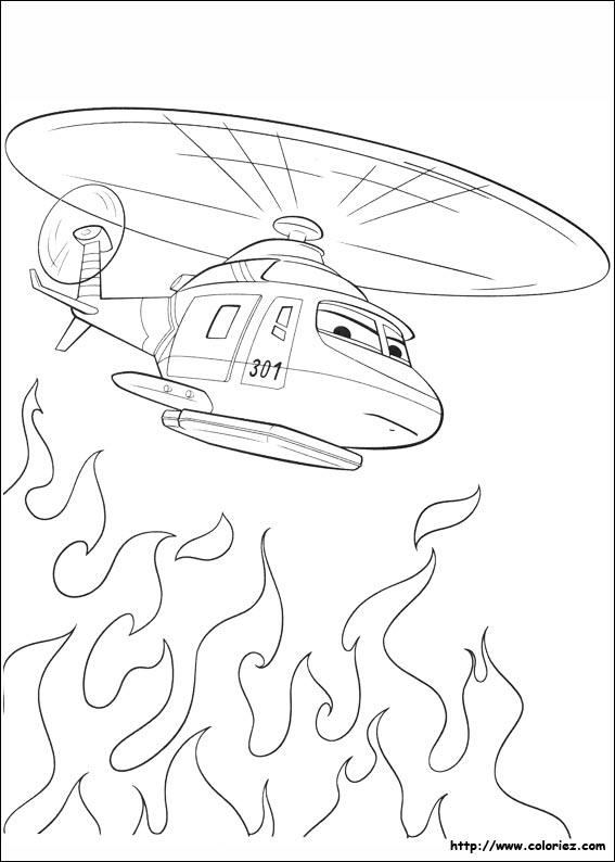 dessin à colorier planes 2 en ligne