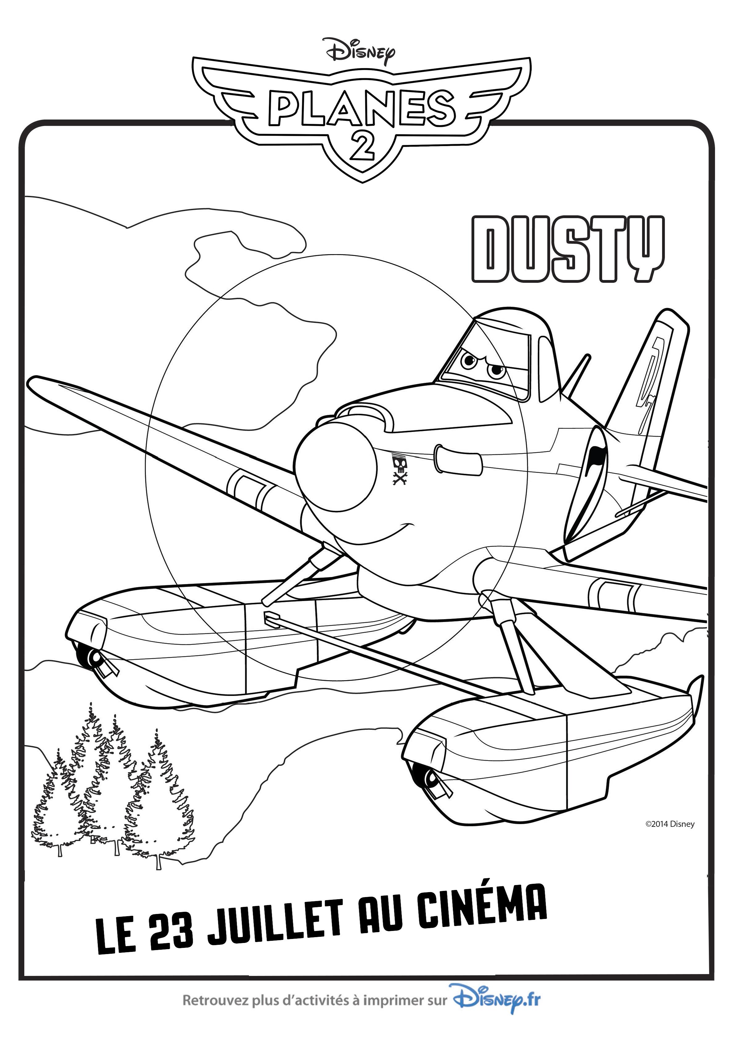 Nouveau Coloriage Planes 2 A Imprimer Gratuit