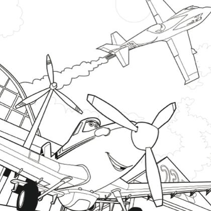 Coloriage dessiner dessin anim planes - Planes coloriage ...
