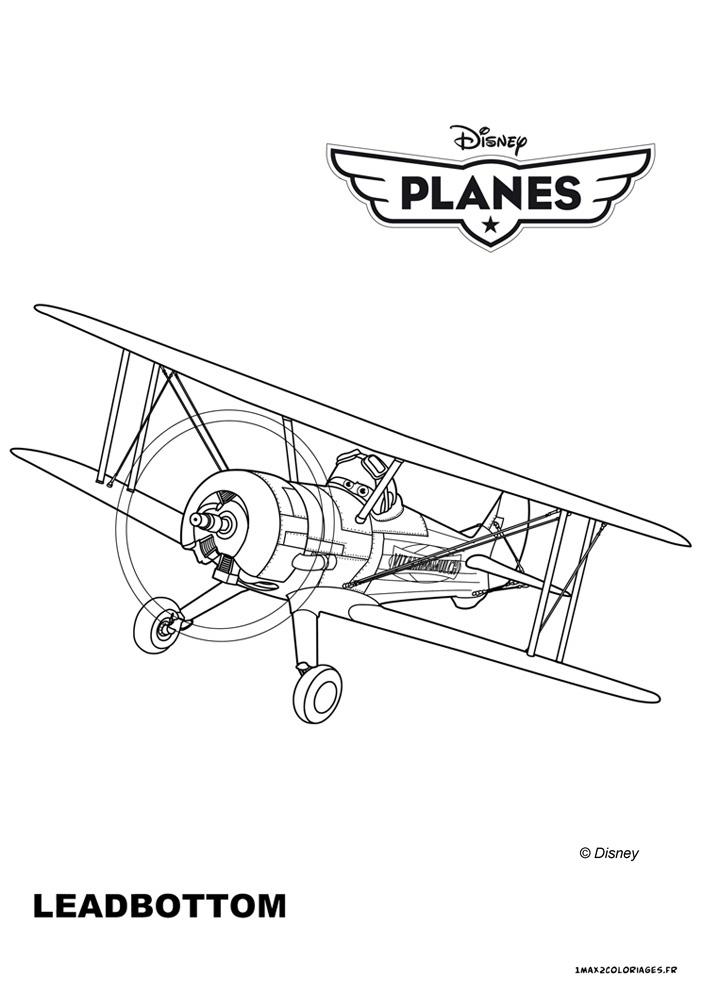 coloriage à dessiner dessin animé planes