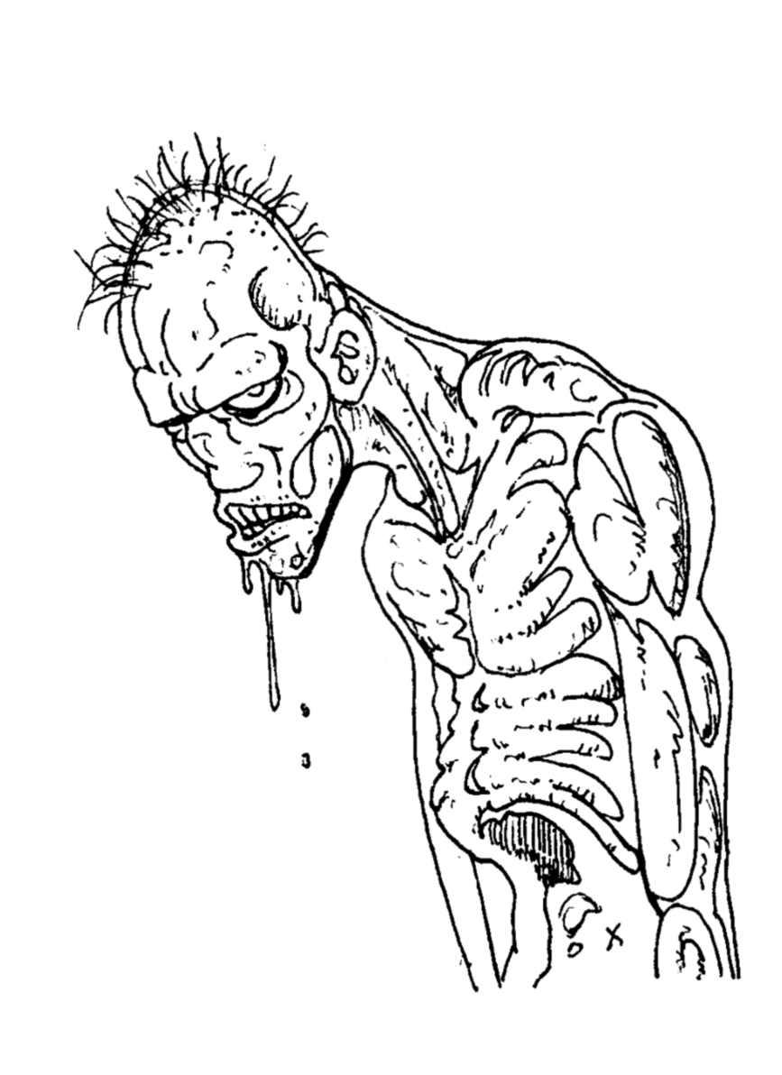 Frais coloriage de zoobie fille - Zombie dessin ...
