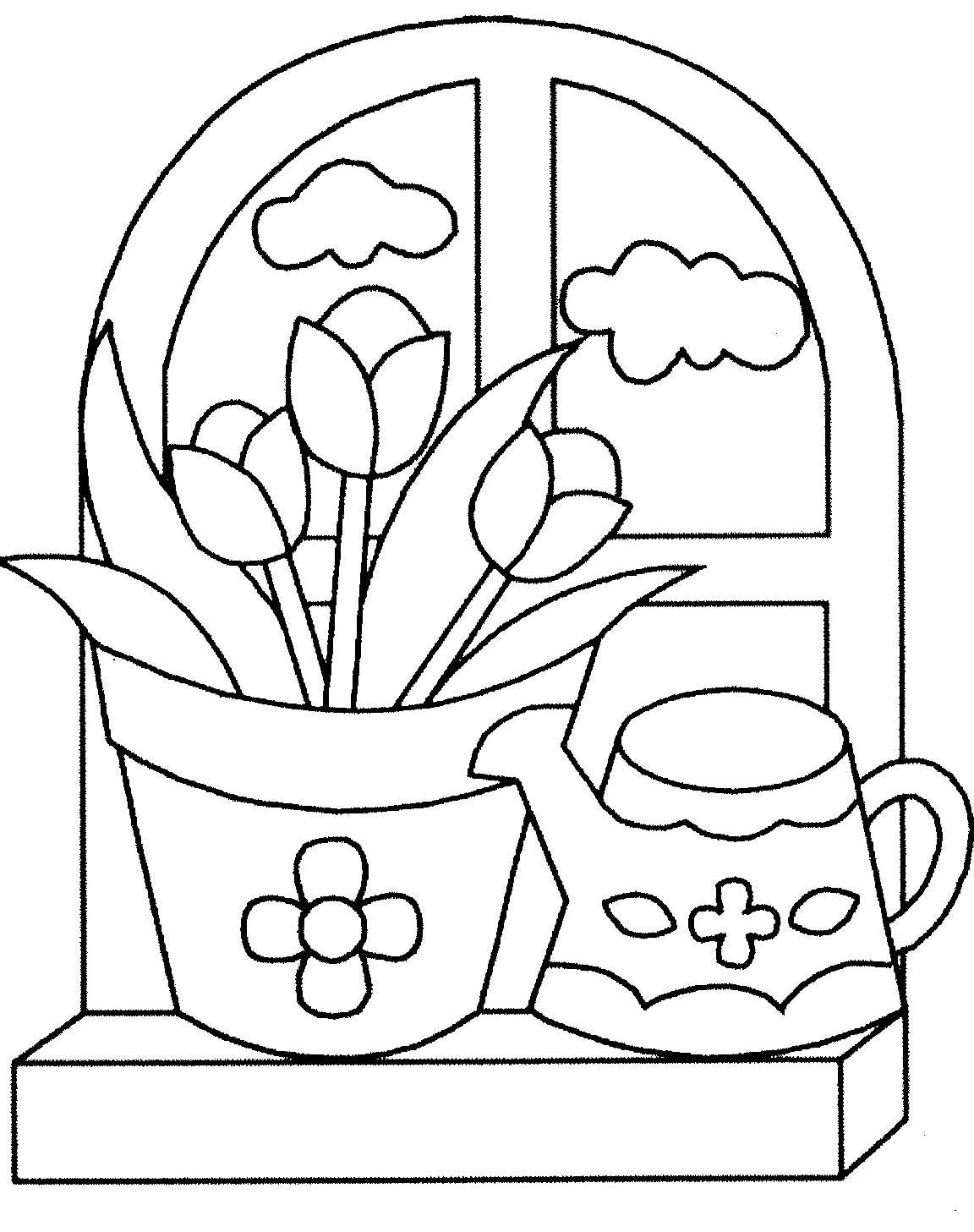 Coloriage à Dessiner Plantes Fleurs