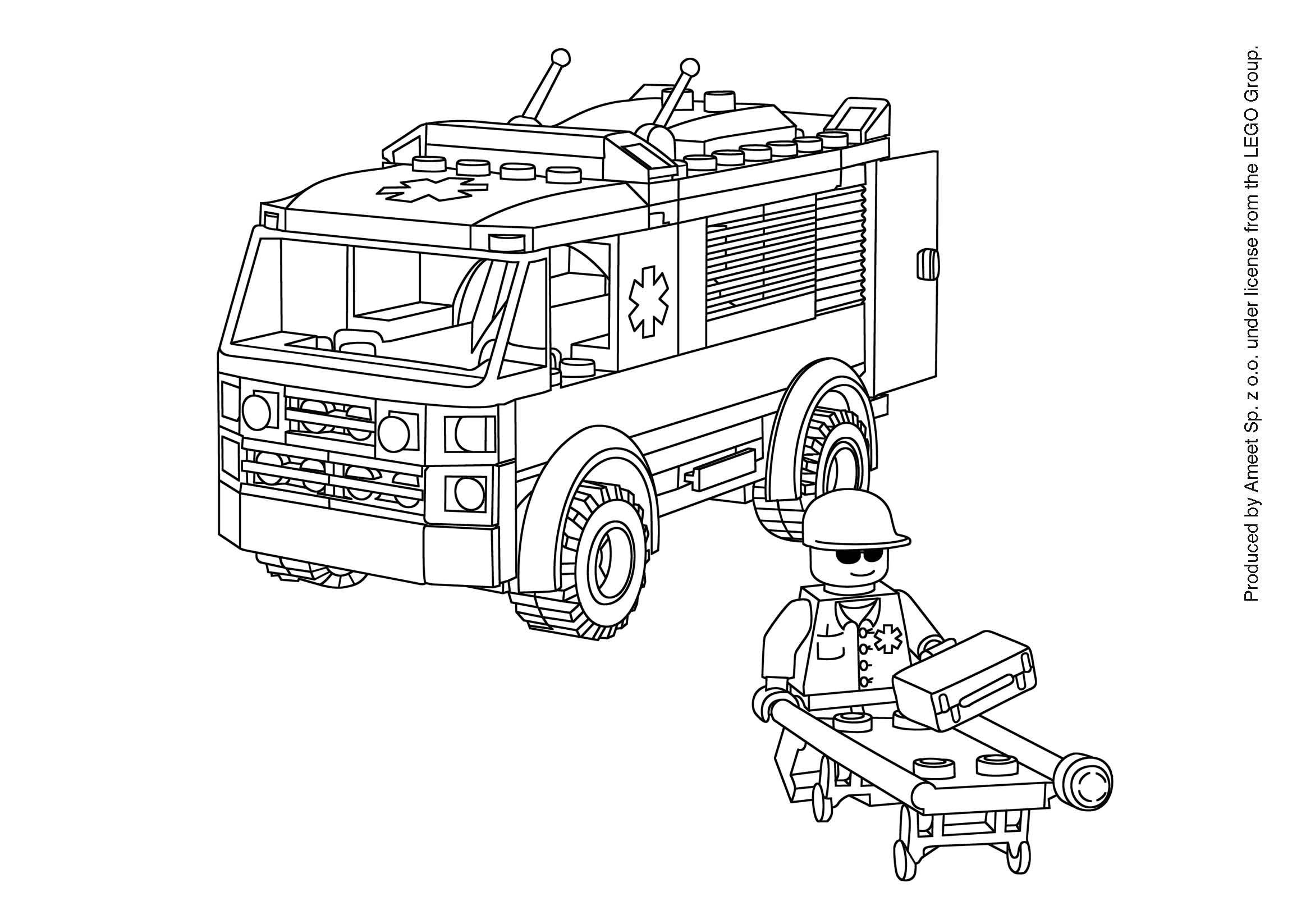87 dessins de coloriage playmobil ambulance imprimer - Dessin a colorier playmobil moto ...