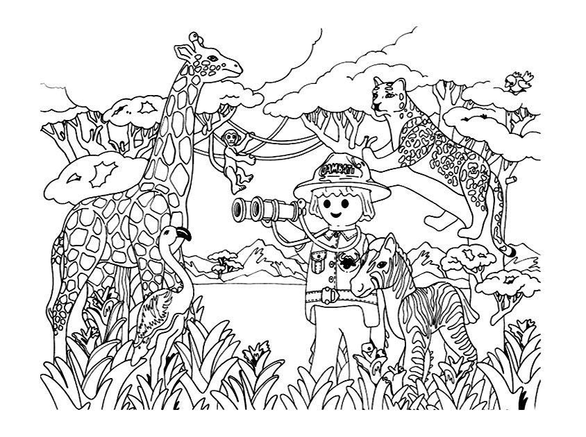 dessin playmobil pirate imprimer