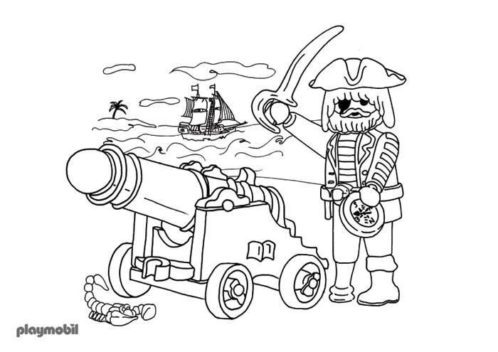 dessin à colorier playmobil garcon
