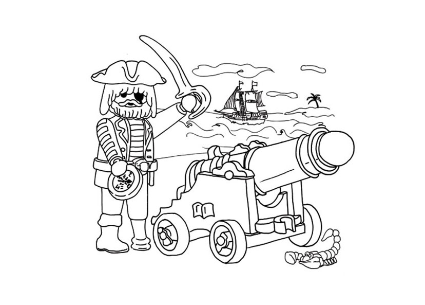 30 dessins de coloriage playmobil imprimer - Tete de pirate dessin ...