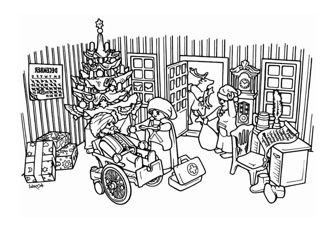 coloriage playmobil camping
