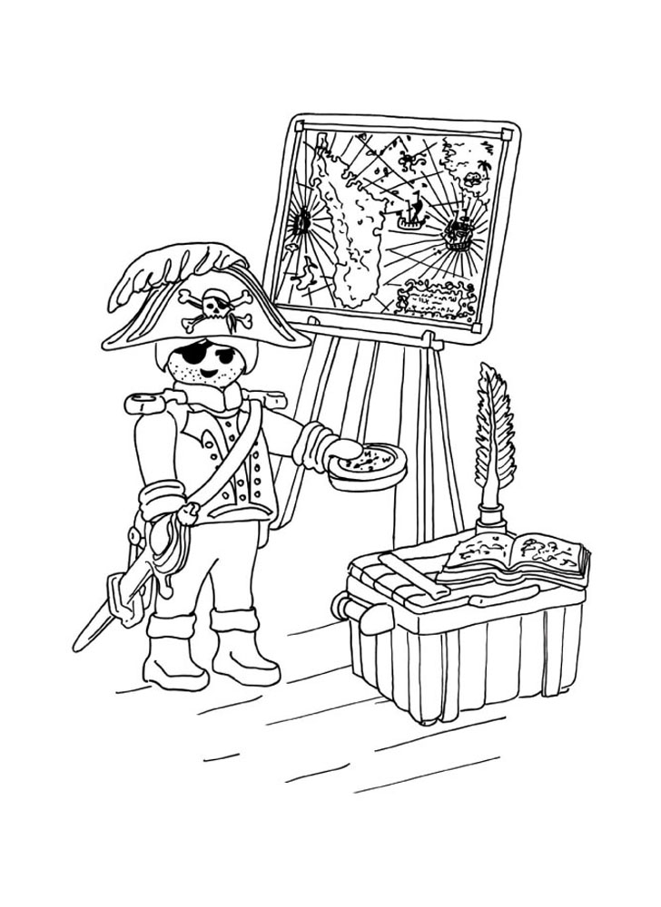 coloriage � dessiner playmobil de noel