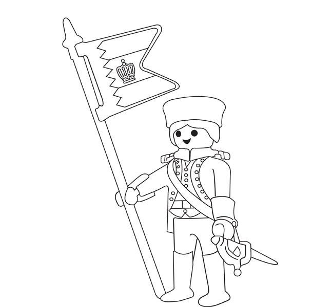 coloriage playmobil bateau pirate