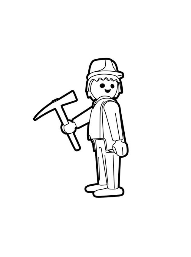 coloriage à dessiner playmobil policier imprimer