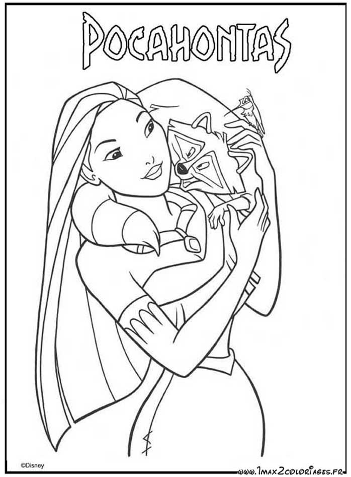 dessin princesse pocahontas