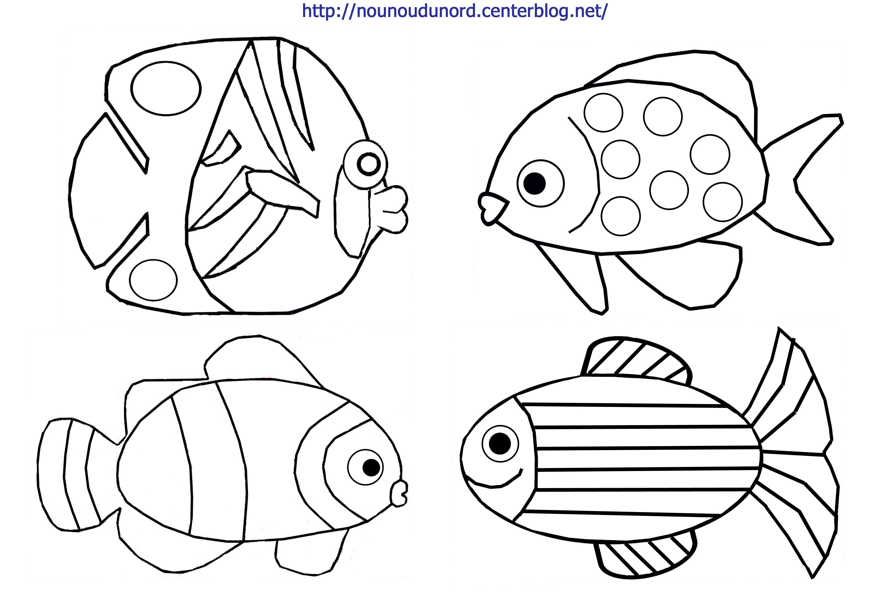 94 dessins de coloriage poisson 1 avril imprimer - Dessin poisson facile ...