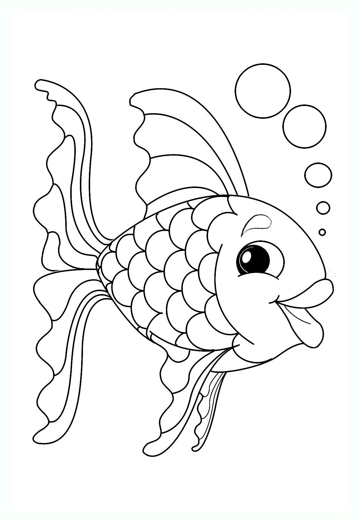 coloriage poisson 1 avril