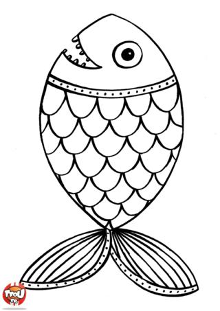 100 dessins de coloriage poisson avril en ligne imprimer - Image de poisson a imprimer ...