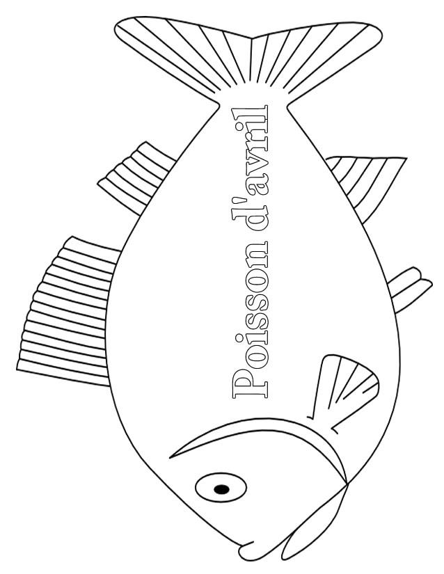 97 dessins de coloriage poisson avril gratuit imprimer - Imprimer poisson d avril gratuit ...