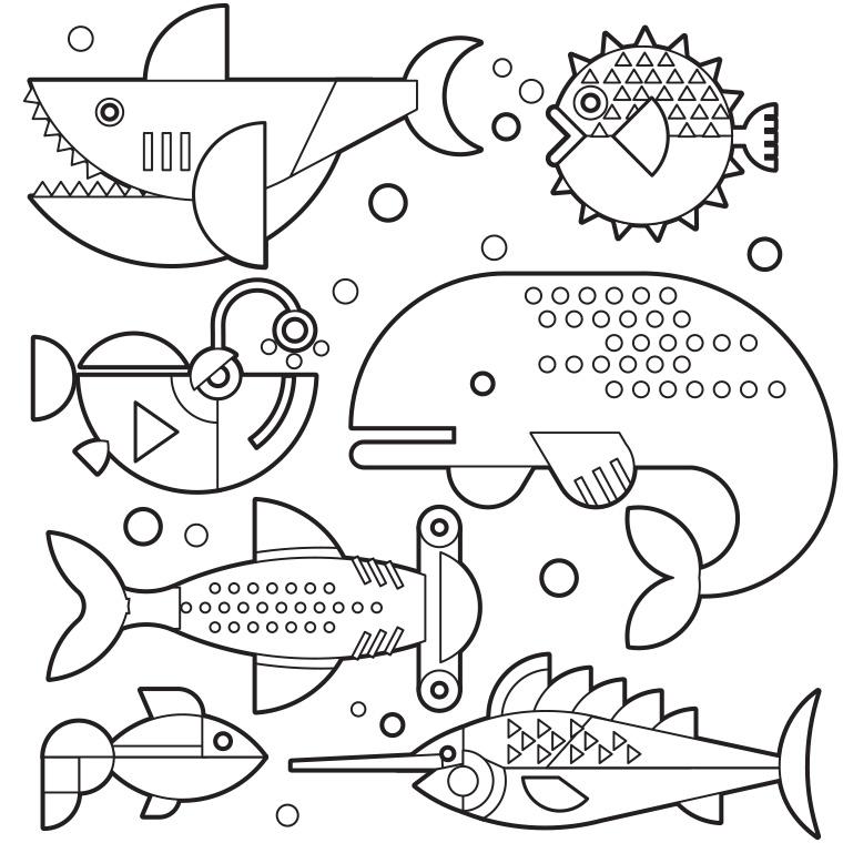 97 dessins de coloriage poisson avril gratuit imprimer - Coloriage de poisson a imprimer ...