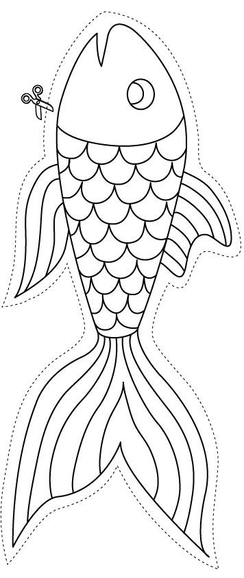 dessin poisson avril